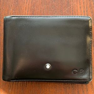 Men's Black Leather Montblanc Wallet
